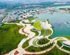 山西晋阳湖公园开设了七个停车场