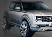 雷诺在新闻发布会上展示了Lada Niva Vision概念车的第一张图片