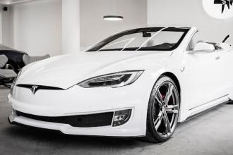 Ares Design发布了新型两门特斯拉Model S敞篷车的图片